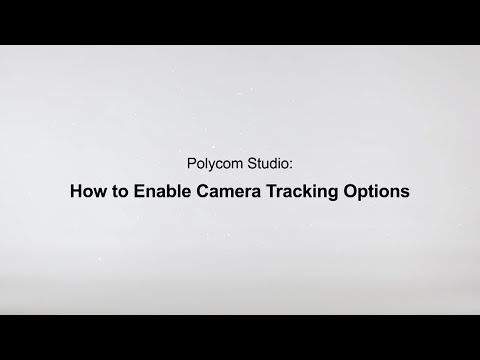 How To Enable Camera Tracking Options - Poly Studio USB - Español
