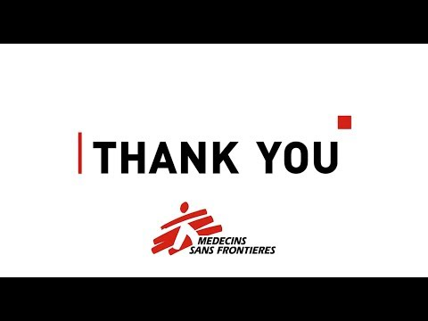 Thank you from Doctors Without Borders - 2017