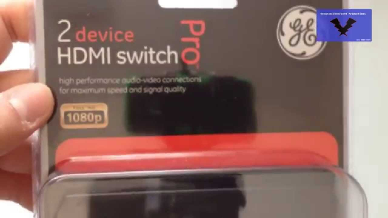 GE 2 Port HDMI Switch 33517 Unboxing 150 YouTube