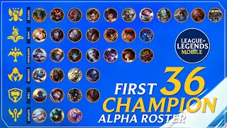 OFFICIAL ALPHA ROSTER CHAMPIONS | LEAGUE OF LEGENDS WILD RIFT