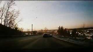 Авария на спуске с горы в Иркутской области
