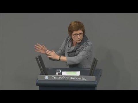 Scharfe Töne: Grünen-Politikerin Britta Haßelmann führt die AfD im Bundestag vor