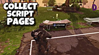 COLLECT SCRIPT PAGES| PARK BENCH SCENE | FORTNITE SAVE THE WORLD