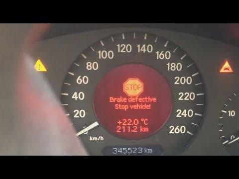 BRAKE DEFECTIVE STOP VEHICLE   замена тормозной трубки Mercedes W211