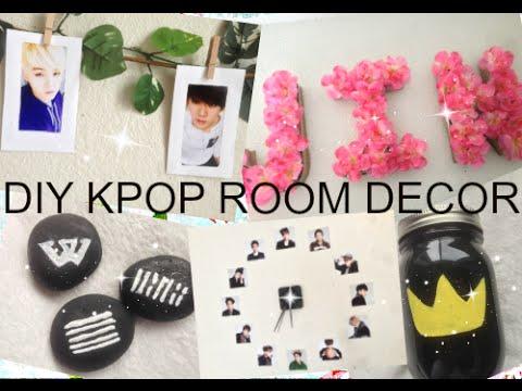DIY KPOP ROOM DECOR | EXO, BIG BANG, BTS! | PrettyPrinceJin - YouTube