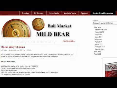Market Trend Signal - Newsletter Page