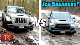 Toyota Tacoma TRD Pro vs Jeep Gladiator Mojave - Off-Road Showdown in Ice, Mud & Snow!