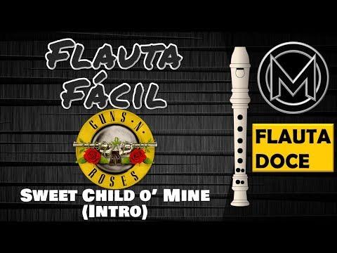 Flauta Fácil – Guns N' Roses – Sweet Child O' Mine || Flauta Doce Soprano G & B ||