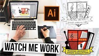 Logo Branding Design: Using Adobe Illustrator & Pen Tool | #FreelanceFriday