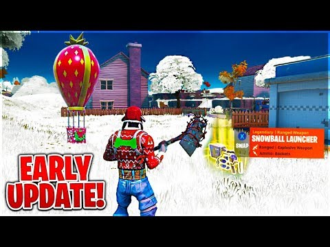Playing The CHRISTMAS UPDATE EARLY In Fortnite Battle Royale!