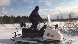Видео от владельца снегохода