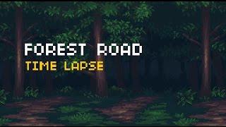 الطريق الغابات خلفية المنظر - الفاصل الزمني