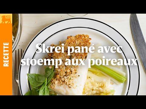 Skrei Pané aux noisettes, stoemp et sauce au coco