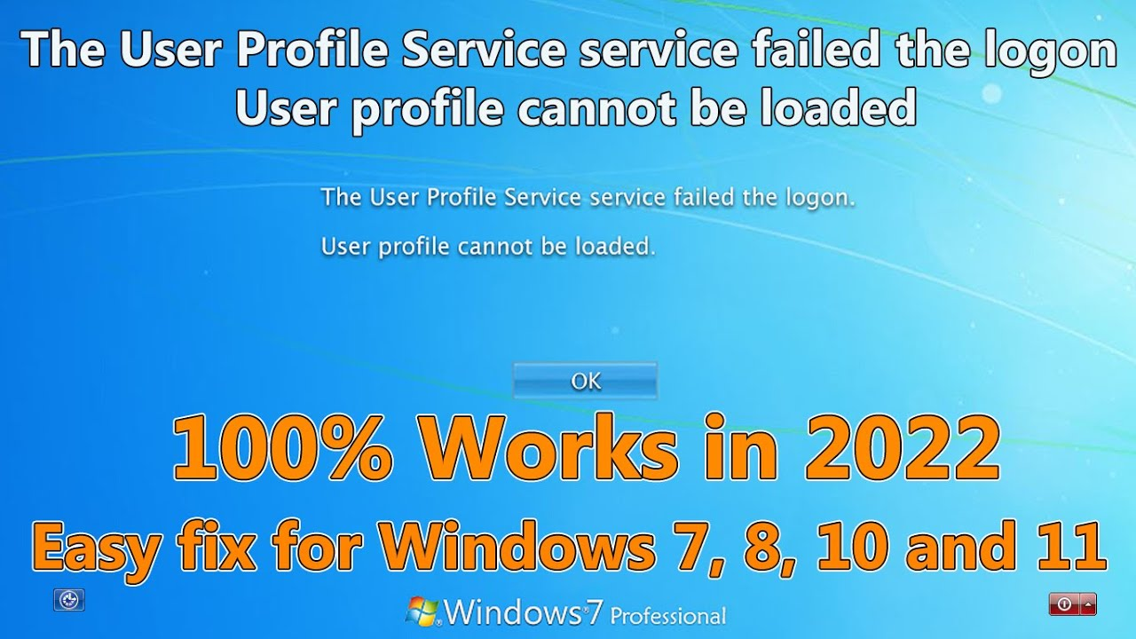how to fix the user profile service failed the sign-in windows 8.1