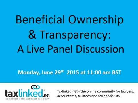 Taxlinked.net Live Panel on Beneficial Ownership & Transparency