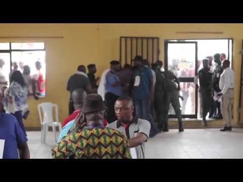 Nigeria Police Prevent Thugs From Invading INEC Collation Center In Rivers State