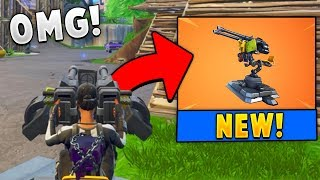*NEW* Legendary Mounted Turret Gameplay in Fortnite!