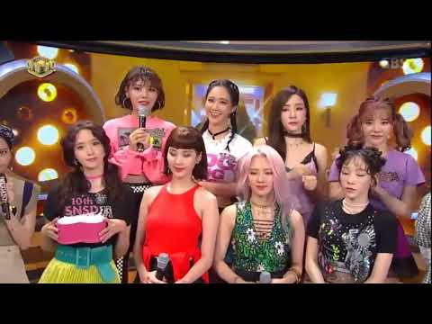 170813 Girls' Generation (소녀시대) SNSD X BLACKPINK (Jisoo) Interaction at Inkigayo Comeback Interview