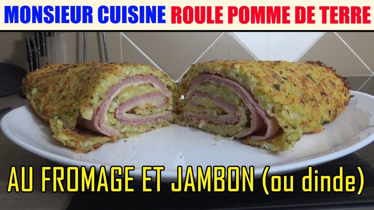 roule pomme de terre au fromage jambon recette monsieur cuisine silvercrest lidl skmh 1100
