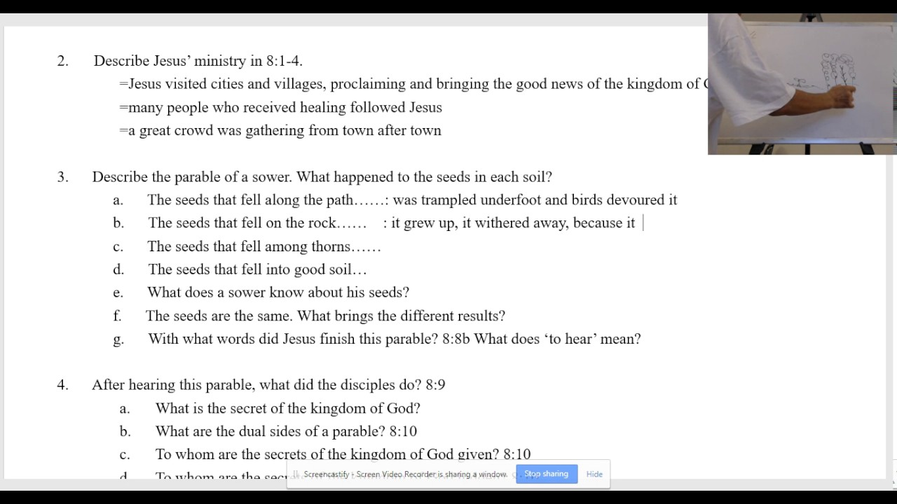 boksoon kim bible study luke 8 1 15 the parable of the sower youtube