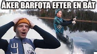 KAN MAN ÅKA BARFOTA EFTER EN MOTORBÅT? (SVINKALLT VATTEN)