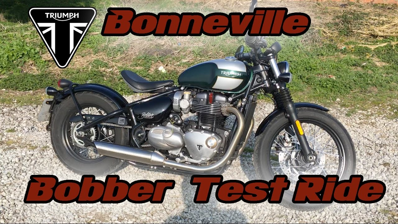 Triumph Bonneville Bobber Test Ride Youtube