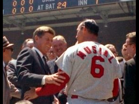 JFK THROWS OUT FIRST PITCH AT 1962 ALL-STAR BASEBALL GAME (PLUS THE 1st HALF-INNING OF THE GAME)
