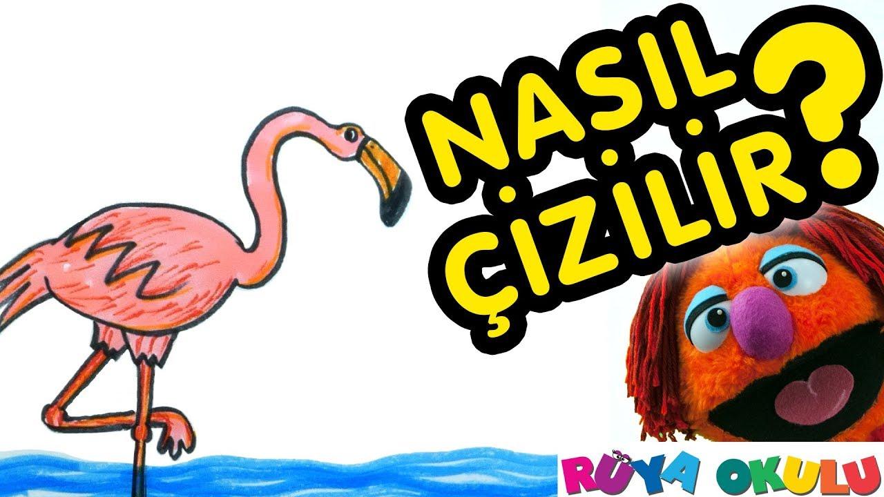 Flamingo Nasıl Çizilir? - Kuş - Çocuklar İçin Resim Çizme - RÜYA OKULU