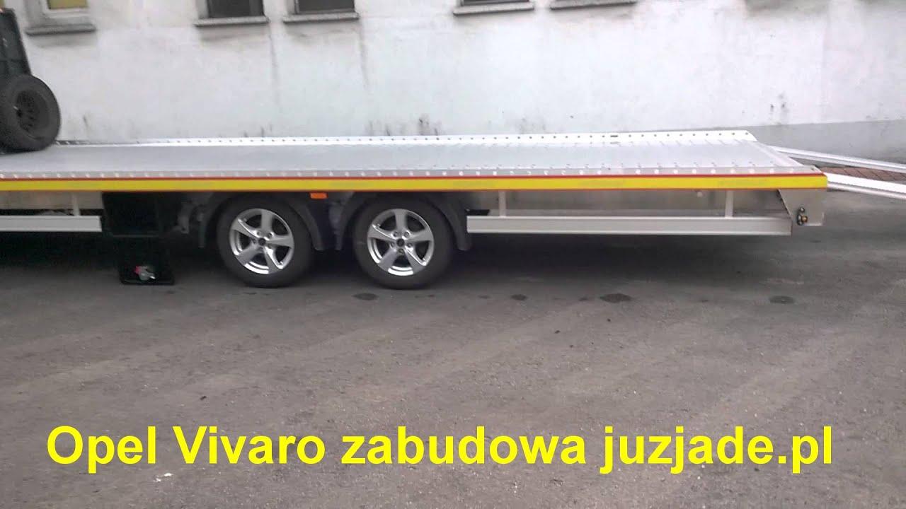 Opel Vivaro Renault Trafic Laweta Autolaweta Aluminiowa Zabudowa