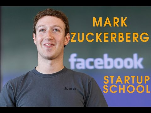 Mark Zuckerberg at Y Combinator Startup School