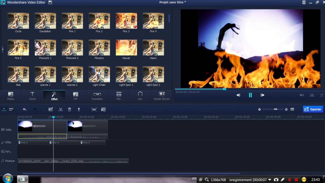 Best Effect Fire 5 For WonderShare VideoEditor - YouTube