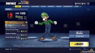NEW LUIGI SKIN IN FORTNITE NINTENDO SWITCH NOT CLICKBAIT 2019
