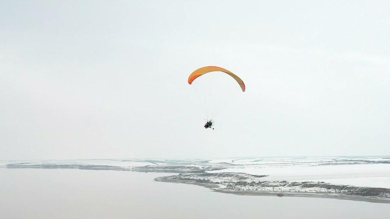 Winter Paraglides. Odessa. Kuyalnik.