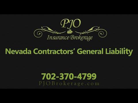 Nevada Contractors General Liability Insurance | PJO Insurance Brokerage