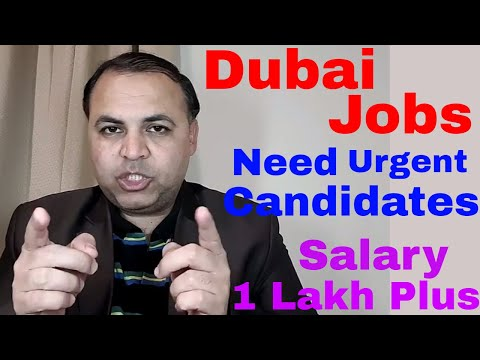 Dubai Latest & Very Urgent Jobs || Jobs for All || Jobs in Dubai