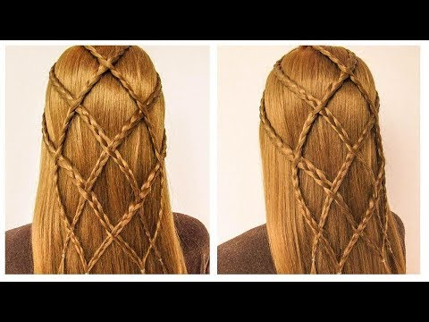 Very easy braided hairstyle ♥️ New party hairstyle 2019 ♥️ Coiffure simple avec des tresses thumbnail