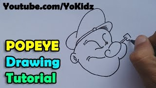 How to draw popeye the sailor