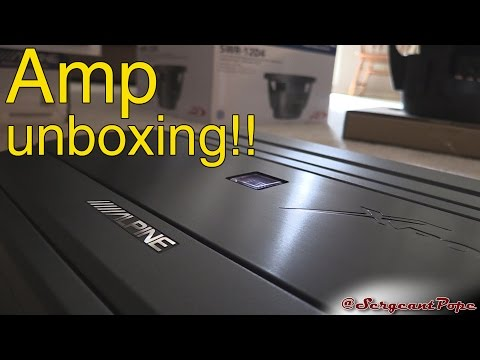 Alpine 1100 watt amplifier unboxing - MRX-M110