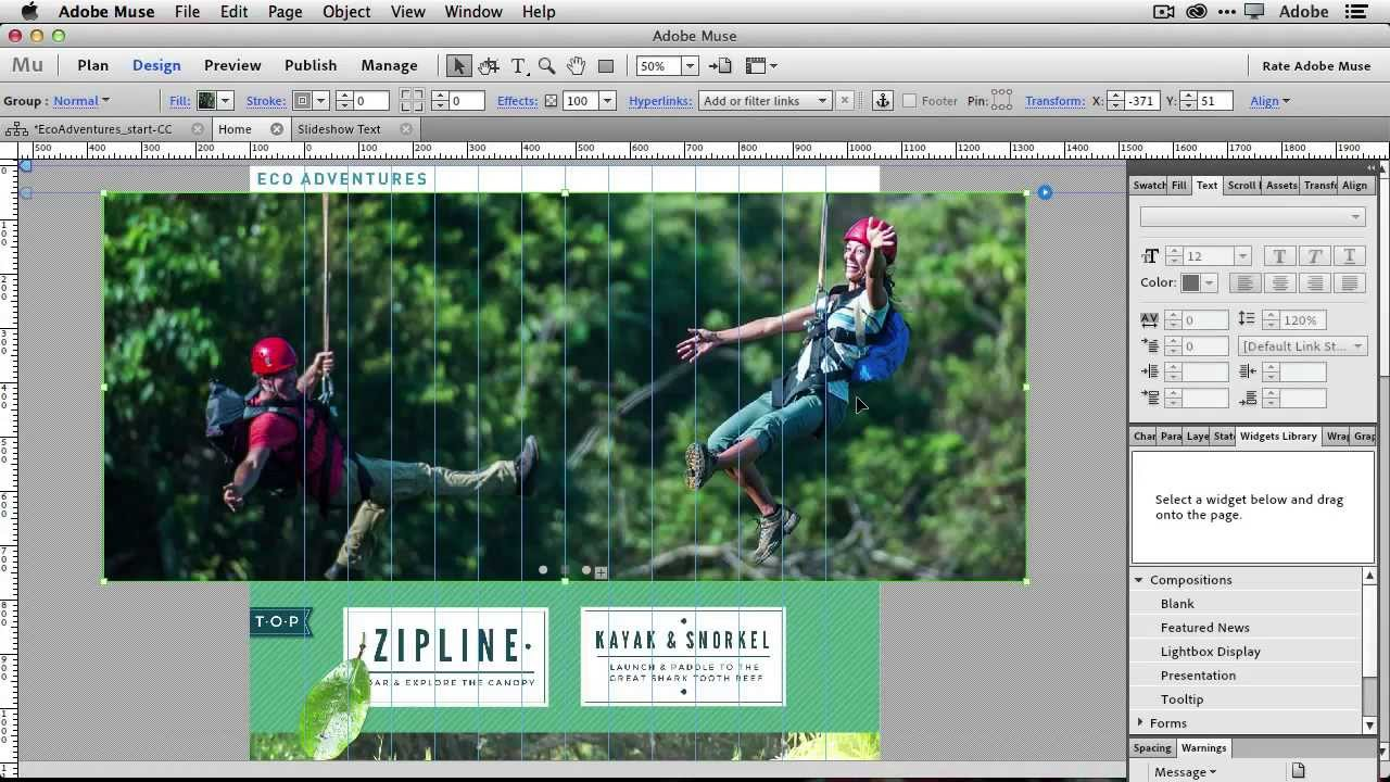 how to create a slideshow in dreamweaver cc