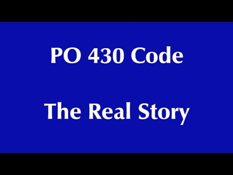 PO430 CODE The real story   don't waste your money!!