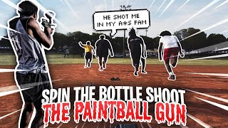 HOOD SPIN THE BOTTLE SHOOT THE PAINTBALL GUN *GONE WRONG HE BROUGHT OUT A REAL WEAPON*