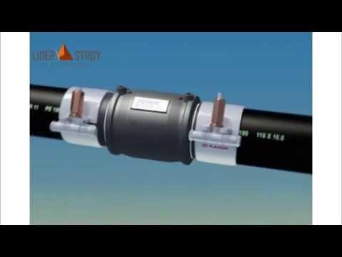 Электромуфтовая сварка труб ПНД. Инструкция (анимация)