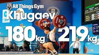 Khetag Khugev (94kg, Russia, 17y/o) All Lifts 2015 European Championships