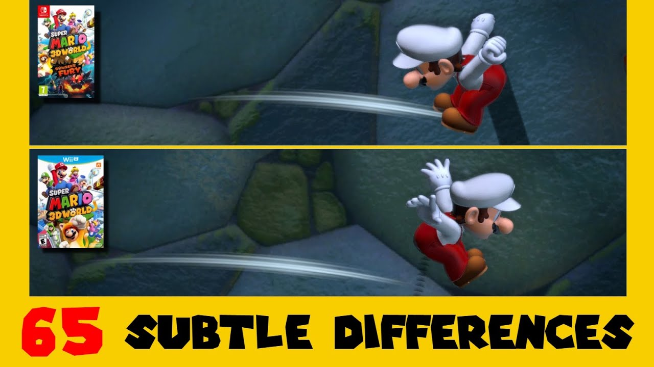 Download 65 Subtle Differences between Super Mario 3D World for Switch and Wii U