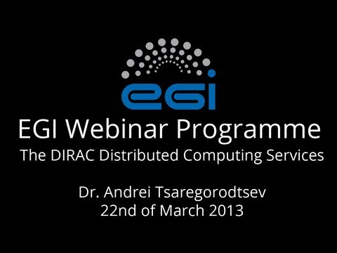The DIRAC Distributed Computing Services - Webinar