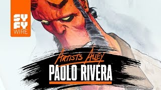 Watch Paolo Rivera Sketch Hellboy (Artists Alley) | SYFY WIRE