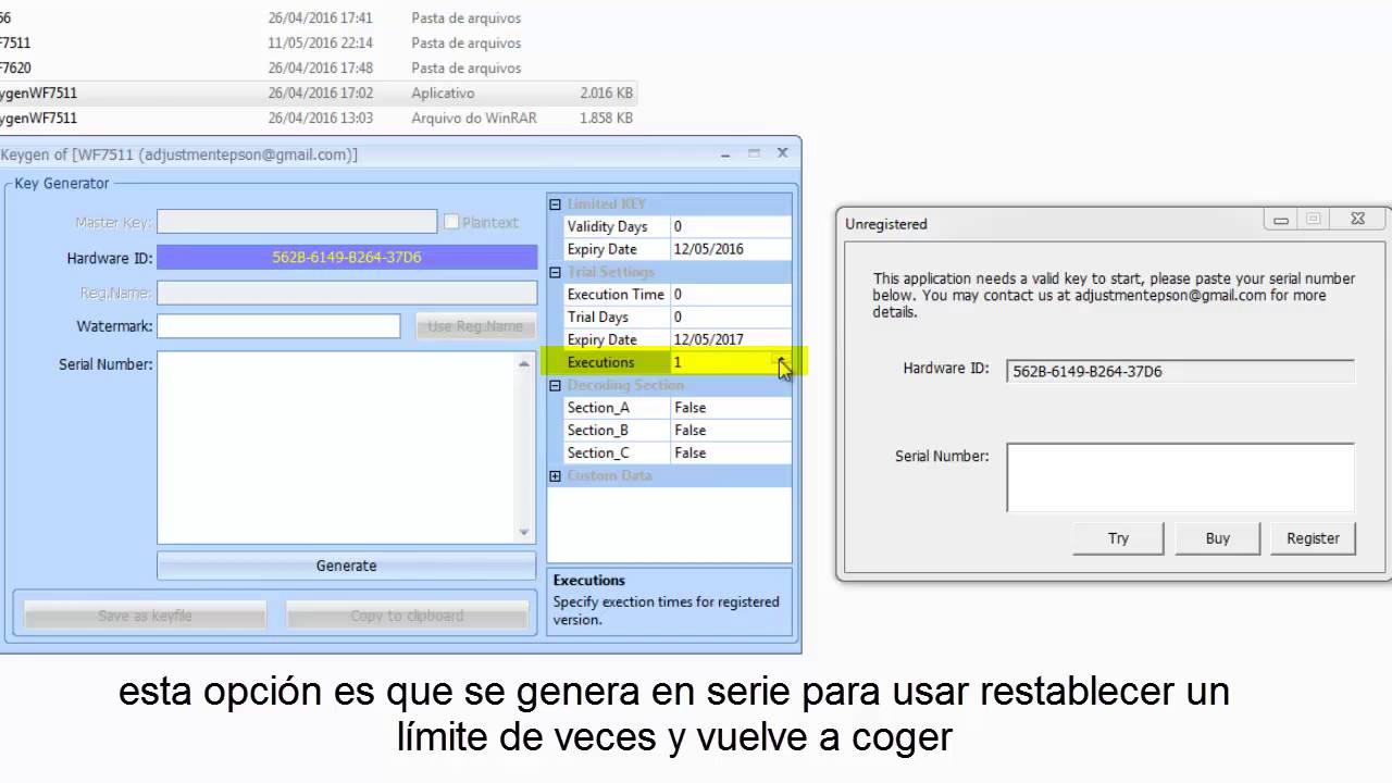 use Reset Epson con Keygen