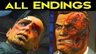 BATMAN Telltale Episode 4 ALL ENDINGS - Go to Wayne Enterprises / Go to Wayne Manor