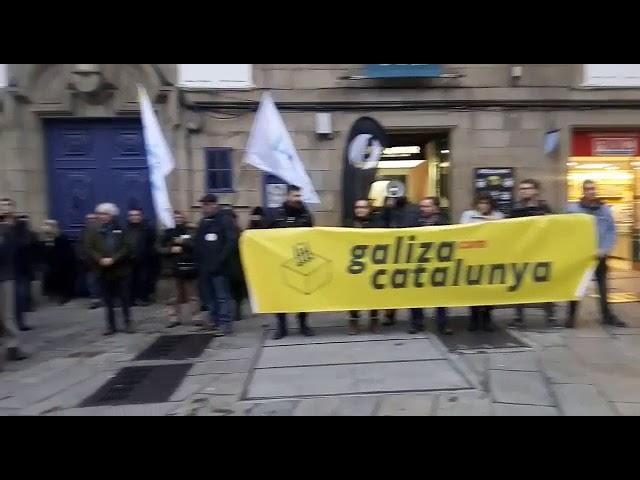 Manifestación en Compostela pola liberdade dos políticos cataláns