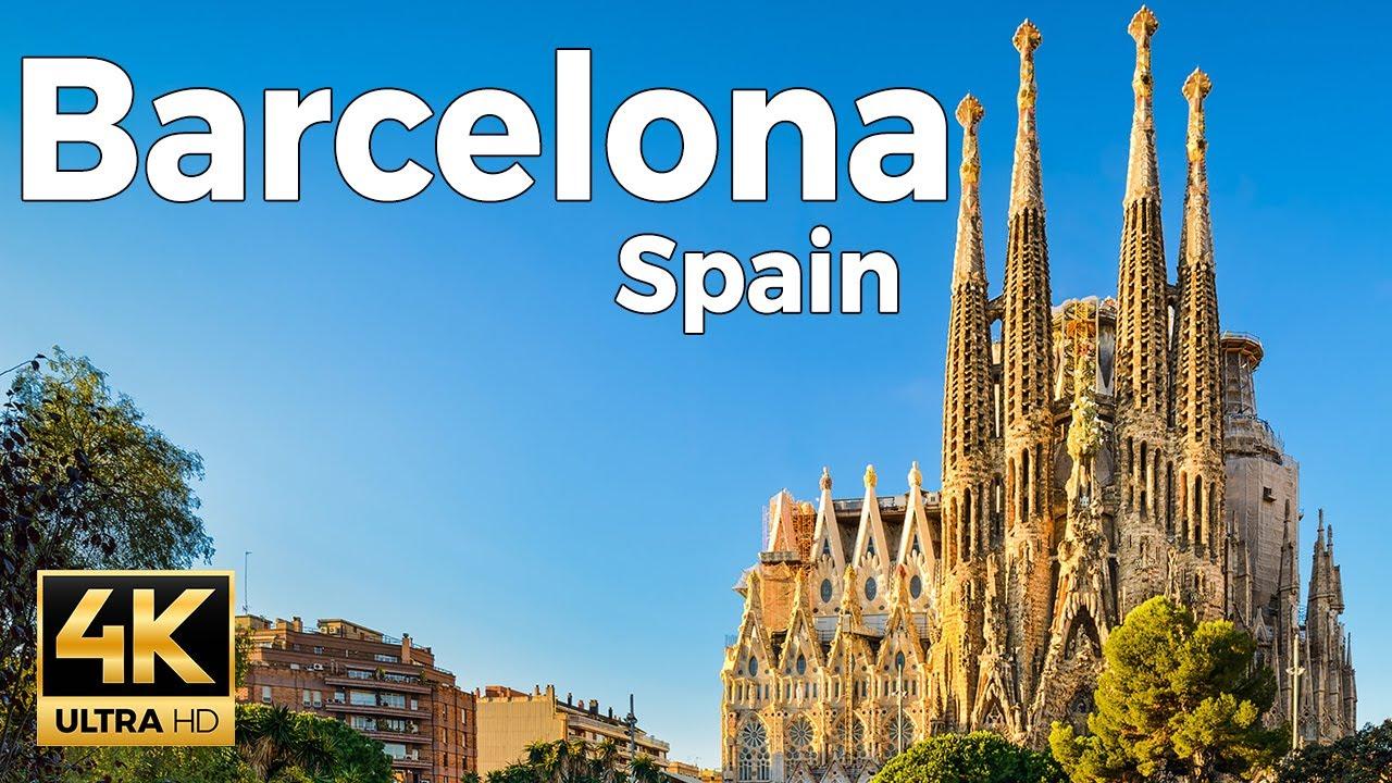 Barcelona, Spain Walking Tour (4k Ultra HD 60fps)
